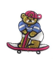 Аппликации мишка на скейте AP127-24