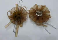 Цветы из лент органзы BT06-28