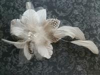 Цветок на заколке КЦ114-1