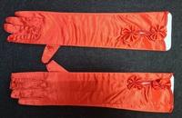 Атласные перчатки 3630-4-38см-1пара