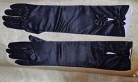 Атласные перчатки 3630-3-38см-1пара