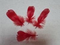 Перо лебедя PL5-13-4-10шт (красный)