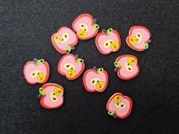 Пуговицы деревянные 20mm-яблоко-25шт