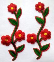Аппликации цветы 6029-4