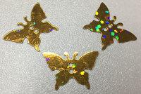 Пайетки бабочки PBCH-41 (золото) Цена за 25 гр