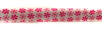 Косая бейка хлопок с цветами 301-34