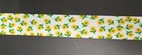 Косая бейка хлопок с цветами 323-7
