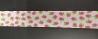 Косая бейка хлопок с цветами 324-34