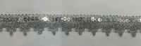 Тесьма металлизированная с пайетками 28-6-42