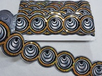 Тесьма с пайетками декоративная CTZ9663-52-5Y